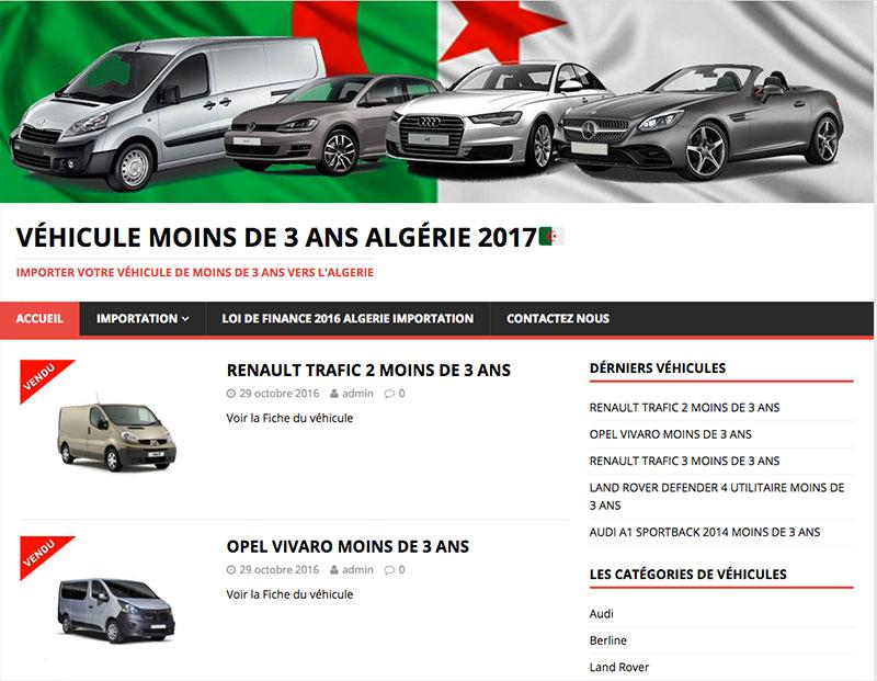 vehicule moins de trois ans algérie